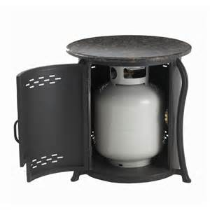 Outdoor Stone Fireplace Kits - table propane tank cover with granite top