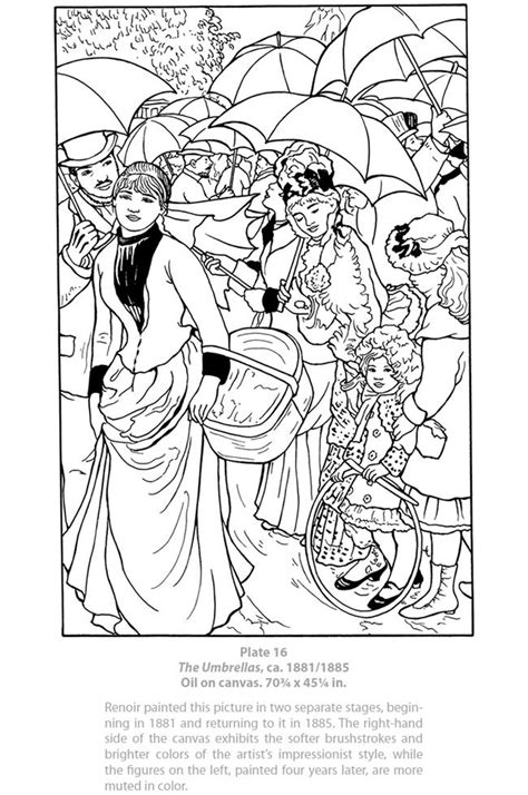 Renoir Coloring Pages 17 best images about renoir on free printable