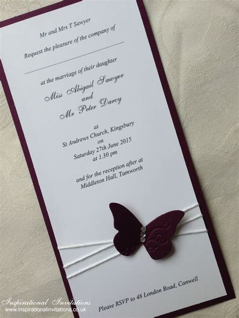 Wedding Invitation Handmade - 1000 ideas about butterfly wedding invitations on