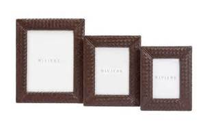 Gold Frame Bed Hand Woven Leather Frame Picture Size 10cm X 15 Cm