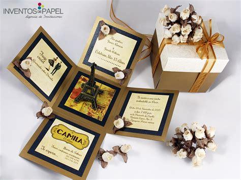 tarjetas on pinterest 15 anos wedding invitations and invitations invitaci 243 n 15 a 241 os caja par 237 s tarjetas pinterest
