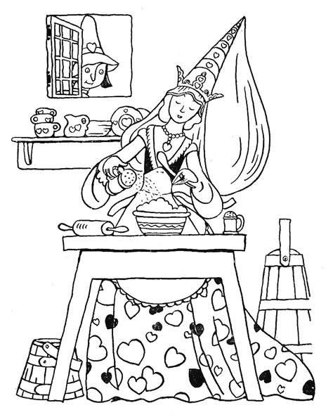queen of hearts nursery rhyme coloring page free coloring pages