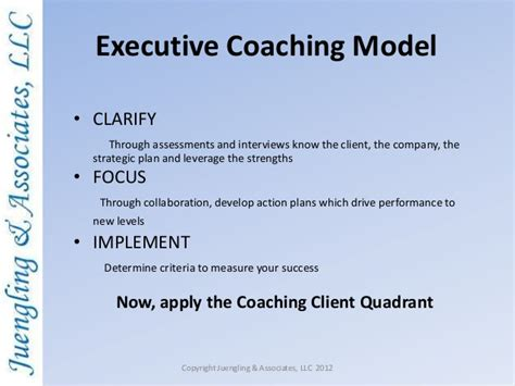executive coaching purpose process and outcomes