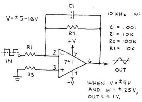 integrator circuit exle differ of op integrator and low pass filter