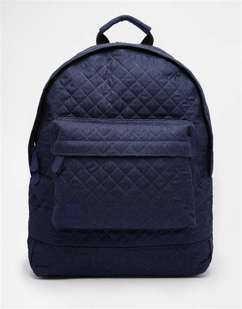 Quilted Backpacks For by Mi Pac Quilted Backpack In Blue For Lyst