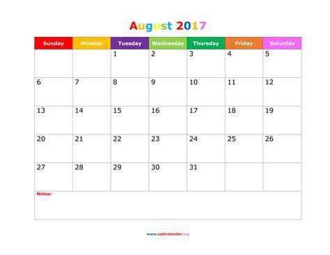 printable calendar landscape october 2017 august 2017 calendar cute printable 2017 calendars