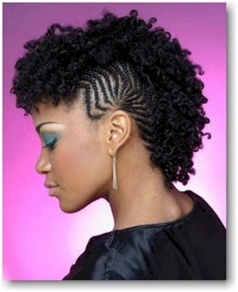 natural hair mohawk styles with the corners shaved fun fancy and simple natural hair mohawk hairstyles