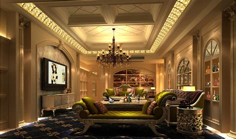 Luxury Bedroom Furniture 3d House 3d Luxury European Style Ceiling For Living Room