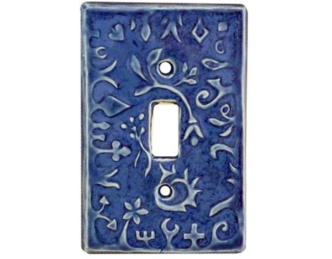 whimsical light switch plates whimsical single toggle light switch cover in sapphire