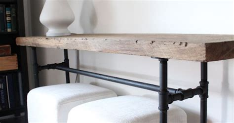 diy plumbing pipe console table sprays extra seating