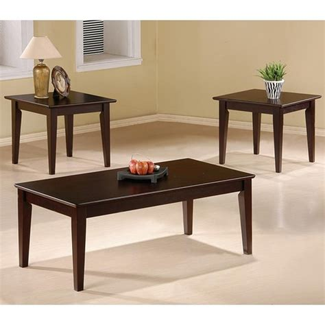 coaster rupard 5880 brown wood coffee table set a