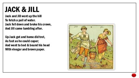 full version of jack and jill nursery rhyme who killed the robin nursery rhymes their roots in history