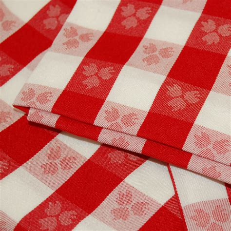 restaurant quality white checkered tablecloth