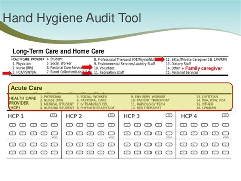 How To Conduct Hand Hygiene Observations Hygiene Audit Template