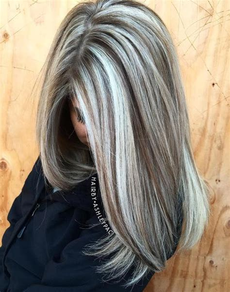 brown hair with grey highlights ash blonde highlights in gray hair dark brown hairs