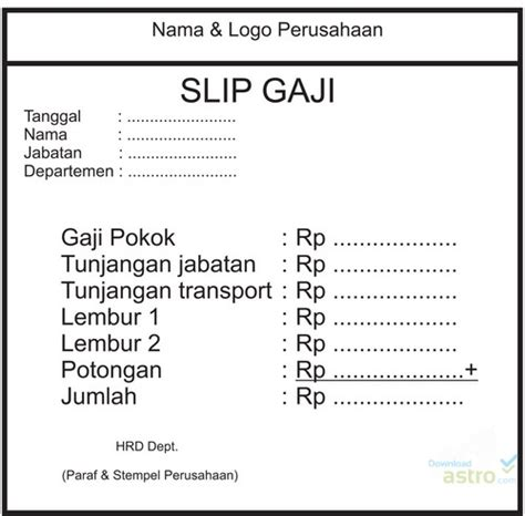 slip gaji pegawai toko slip gaji latest version 2018 free download