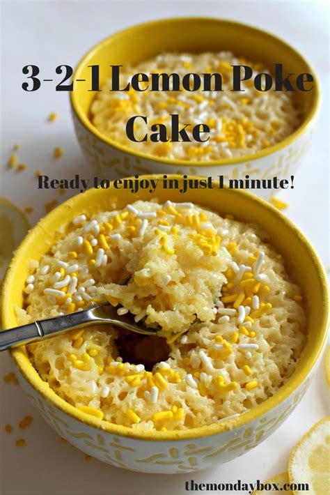 Lemon Cake 1 3 2 1 lemon poke cake the monday box