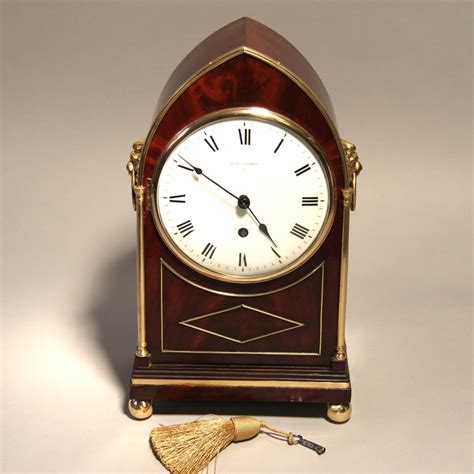 Desk Clocks For Sale by Miniature Regency Table Clock For Sale By