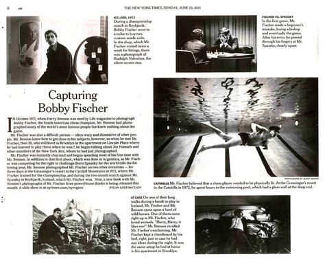 new york times metropolitan section bobby fischer in the new york times powerhouse books