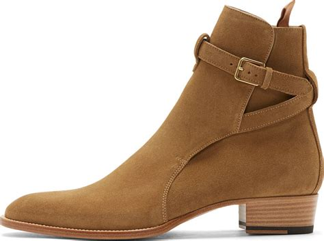 mens laurent boots laurent camel suede wyatt ankle boots in for