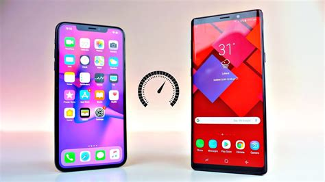 iphone xs max vs samsung galaxy note 9 speed test