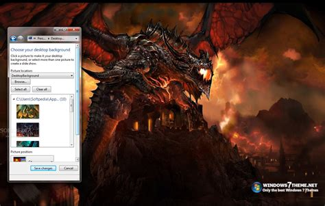 desktop themes with sound dragon windows 7 theme with sound effect download