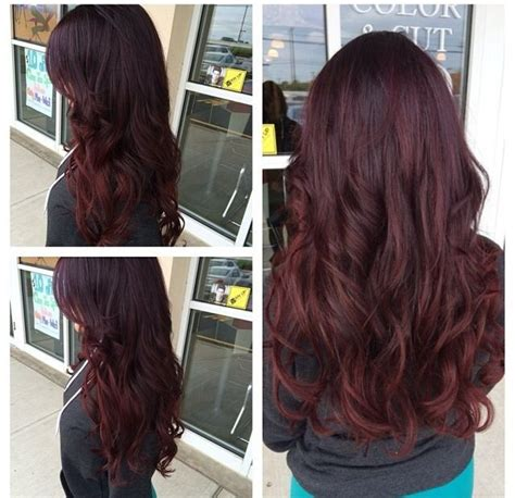 pinterest rich violets reds browns long hair ombre violet red purple hair beauty pinterest my