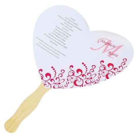 wedding program fans kit diy heart fan wedding program paper kit target