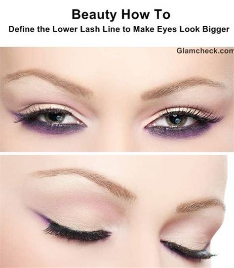 eyeliner tutorial to make eyes look bigger how to apply eye makeup to make eyes look bigger mugeek