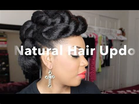 natural hair | natural hair updo with braiding hair