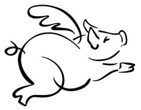 free flying pig clipart flying pig outline pigs – gclipart.com