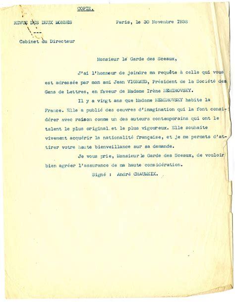 lettre de recommandation naturalisation document