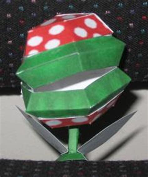 Origami Venus Fly Trap - mario papercraft piranha plant papercraft