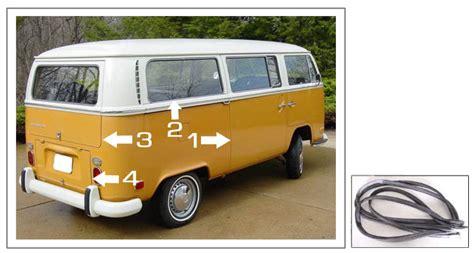 volkswagen vanagon 79 volkswagen bus vanagon eurovan door seals 1968 79 bus