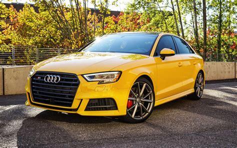 Audi S3 Bilder by H 228 Mta Bilder Audi S3 Sedan 2017 4k Gul S3 Tyska Bilar