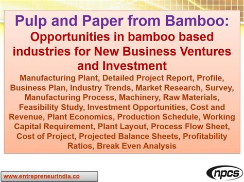 pulp and paper equipment quality pulp and paper from bamboo opportunities in bamboo based industries for new business ventures