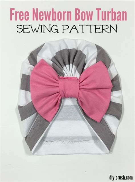 baby bow turban beanie sewing pattern allfreesewing com