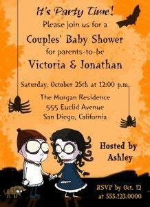 Spider Baby Shower Theme by Spooky Spider Orange Baby Shower Invitation Fall