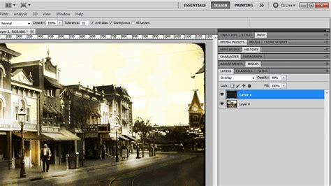 tutorial photoshop cs5 efeitos crie um efeito de foto antiga photoshop cs5 youtube