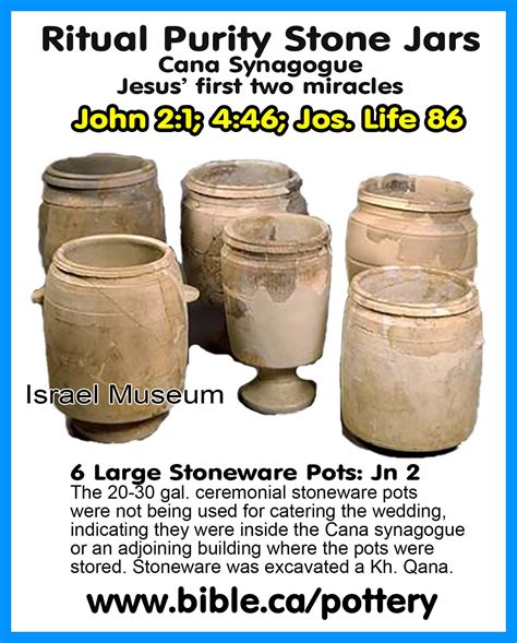 Wedding At Cana Jars by Stoneware Century Ritual Purity Vessels