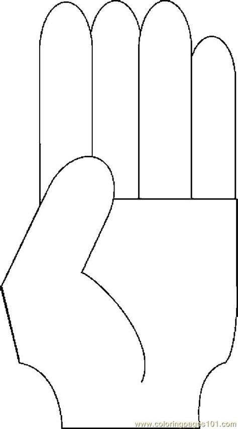 pointing finger coloring pages