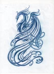 blue phoenix tattoo unedited by bellaknoti on deviantart