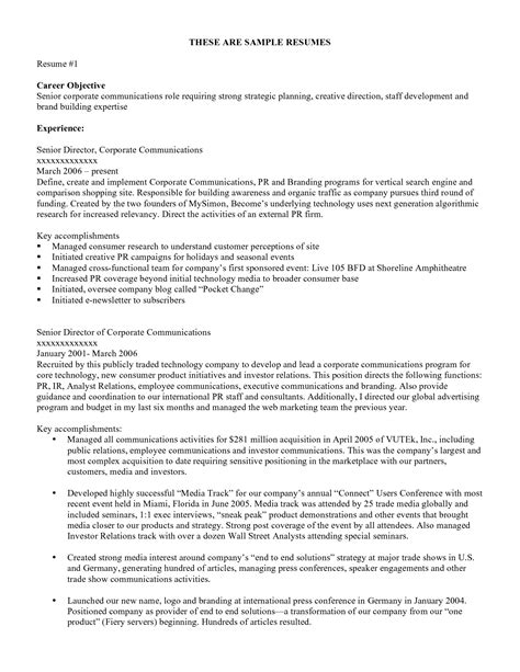 Resume Career Objective Wording Career Objective Resume Exles Free Top 10 Sle Resume