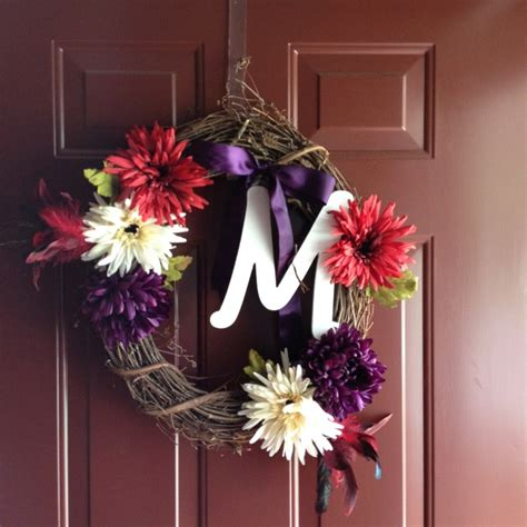 Front Door Monogram Wreath Monogrammed Wreath For Front Door Wreaths