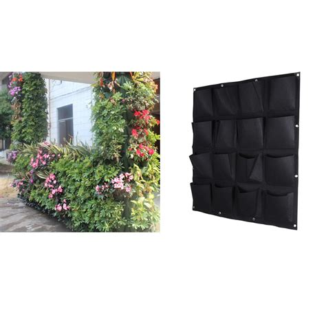 Outdoor Wall Mounted Planters by 2016 New Indoor Outdoor Wall Hanging Planter Vertical Felt Garden Plant Grow Container Bags 16