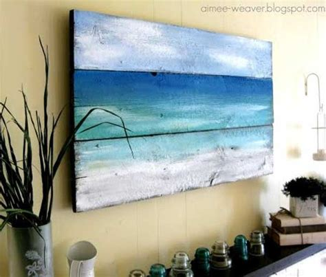 diy paintings for home decor 36 breezy beach inspired diy home decorating ideas