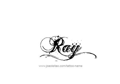 ray name tattoo designs