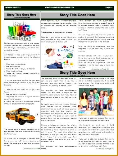 school newspaper template 6 elementary school newspaper template fabtemplatez