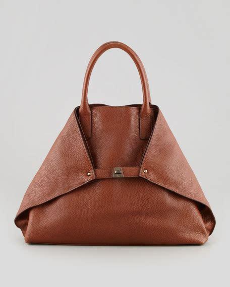 Furla Cevro akris ai cervo medium leather messenger bag brown