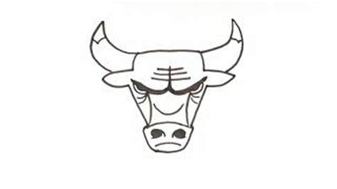 Chicago Bulls Logo Outline by Chicago Bulls Clipart 39